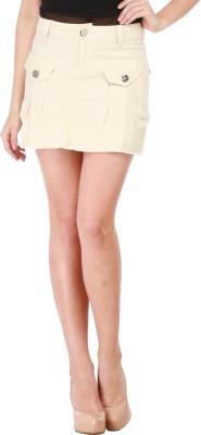 Star Style Striped Women's A-line Beige Skirt