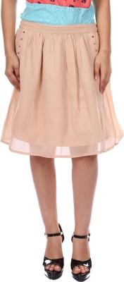 Gwyn Lingerie Self Design Women's Gathered Beige Skirt
