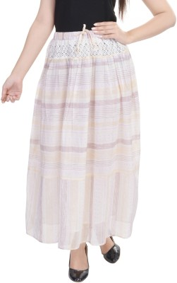 Goodwill Impex Printed Women's Straight Grey Skirt