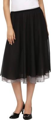 Tops and Tunics Solid Women's Regular Black, Grey Skirt