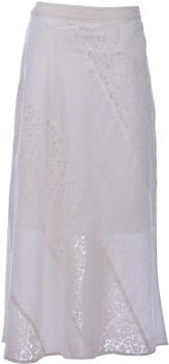 Pure Nautanki Printed Women's A-line White Skirt