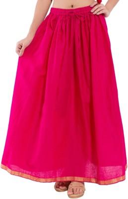 Kanak Solid Women's Regular Pink Skirt