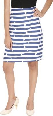 Ragdoll Striped Women,s A-line Blue, White Skirt