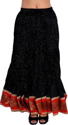 Factorywala Printed Women,s Wrap Around Black Skirt