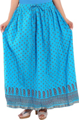 Decot Paradise Printed Women's Regular Light Blue Skirt