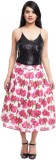 Zoys Floral Print Women's Pleated Red, W...