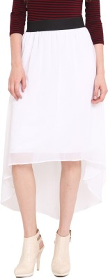 Studio West Solid Women's Regular White Skirt