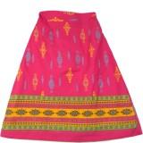 SSMITN Printed Girls A-line Pink Skirt