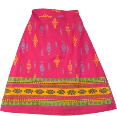 SSMITN Printed Girls A-line Pink Skirt at flipkart