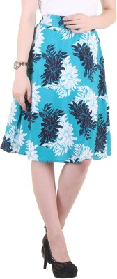 Hotberries Printed Women's Regular Light Blue Skirt