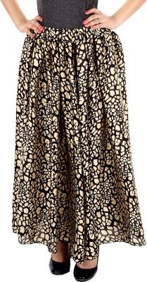 Gwyn Lingerie Graphic Print Women's Gathered Gold Skirt