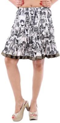 Vivancreation Embroidered Women's Regular White Skirt