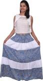 Yaari Striped Women's Regular Blue, Whit...