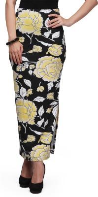 Eavan Self Design Women's Pencil Black Skirt at flipkart
