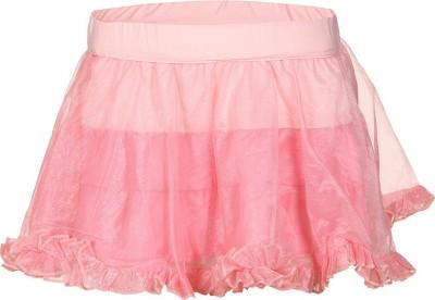 Tickles By Inmark Solid Girl's Regular Pink Skirt