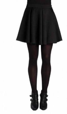 Paramita Solid Women's Regular Black Skirt