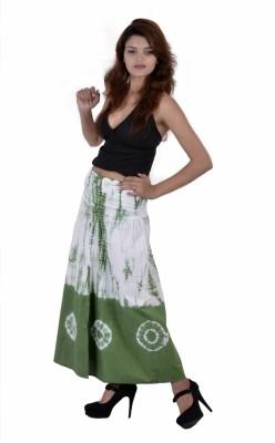 Jaipur Kala Kendra Self Design Women's Regular Green Skirt