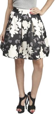 Naitik Printed Women's Regular Black, White Skirt