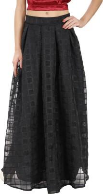 Svt Ada Collections Checkered Women,s Regular Black Skirt