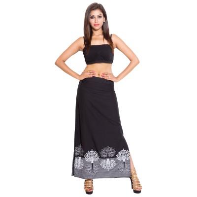SML Originals Printed Women's Regular Black Skirt