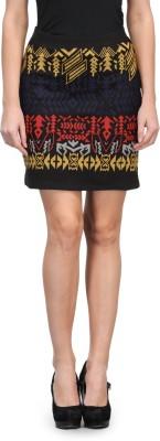 Kiosha Printed Women's A-line Multicolor Skirt