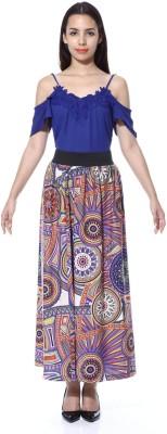 GraceDiva Printed Women's A-line Multicolor Skirt