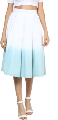 Roving Mode Solid Women's Pleated Multicolor Skirt