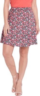 Globus Floral Print Women's A-line Multicolor Skirt