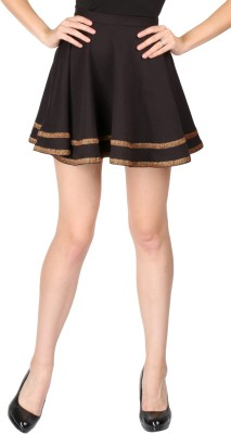 Aaliya Embroidered Women's Gathered Black Skirt