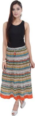 BigCart Printed Women's Regular Multicolor Skirt