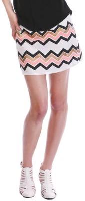 Paint It Red Geometric Print Women's Regular Multicolor Skirt
