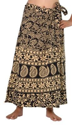 SBS Printed Women's Wrap Around Beige Skirt