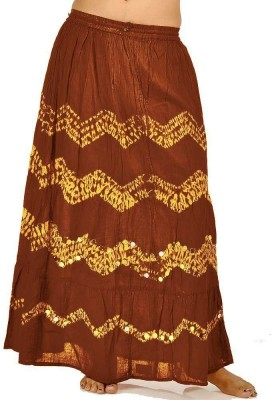 Indiangiftemporium Printed Women's Regular Red, Yellow Skirt