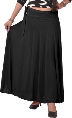Ace Solid Women's A-line Black Skirt