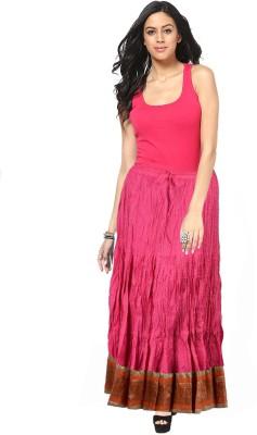 Factorywala Printed Women,s Wrap Around Pink Skirt