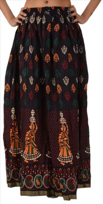 Skirts & Scarves Printed Women's A-line Blue Skirt
