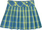 Caca Cina Checkered Girls Pleated Multic...