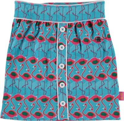 Bakery Babes Printed Girl's A-line Blue Skirt
