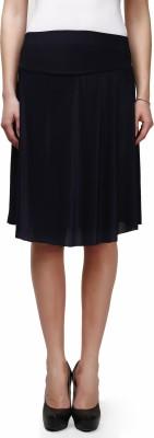 Legis Solid Women's Regular Blue Skirt