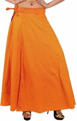 Indi Bargain Printed Women's Wrap Around Yellow Skirt