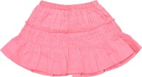 Gini & Jony Solid Girls A-line Pink Skirt best price on Flipkart @ Rs. 377
