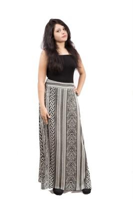 Fadjuice Printed Women's Straight Black, White Skirt
