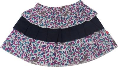 Nino Bambino Floral Print Girl's Layered Multicolor Skirt