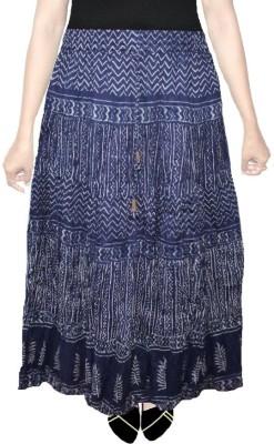 AS42 Paisley Women's Regular Dark Blue Skirt
