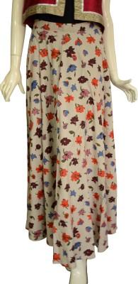 Jupi Floral Print Women,s A-line Multicolor Skirt