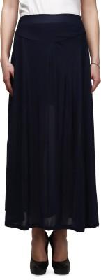 Legis Solid Women's A-line Blue Skirt