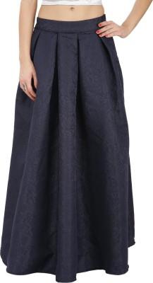 Svt Ada Collections Printed Women,s Regular Dark Blue Skirt