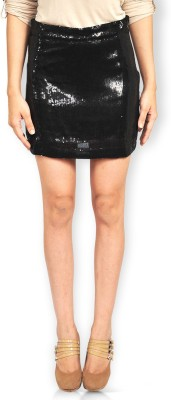 Riot Jeans Embellished Women's Regular Black Skirt
