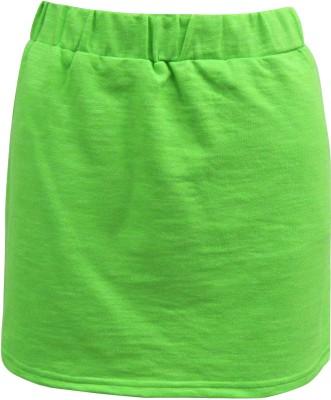 Abstract Mood Printed Girl's Regular Light Green Skirt