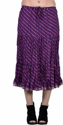 Jaipur Kala Kendra Printed Women's Regular Purple Skirt